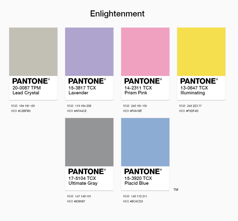 Pantone 2021 Enlightenment